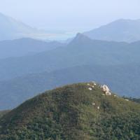 於茂登岳から見た野底マーペー